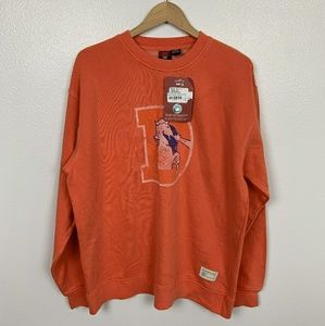 NFL Classic Reebok Man Pullover Orange Sz: L